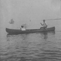 Image of Robert and Marion Farquhar Canoeing - undated