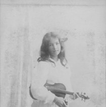 Image of Portrait of Marion Jones with Violin - undated