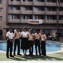 "Image of The ""Olympic Breakfast"" staff at The Miramar for the 1984 Summer Olympics - 1984/07/22"