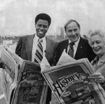 Image of Nat Trives, Aubrey E. Austin,  & Clo Hoover - 1975/5/17
