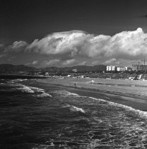 Image of View of Ocean Avenue and the Palisades from Santa Monica Beach - 1970/12/02