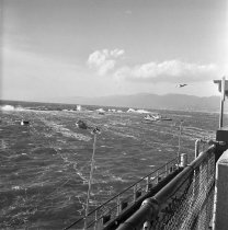 Image of High Waves at the Santa Monica Pier Breakwater - 1971/02/19