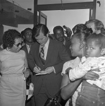 Image of Senator Edward Kennedy in Compton - 1971/05/18