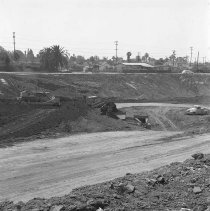 Image of Construction of Interstate 10 Freeway in Santa Monica - 1/1/1964-12/31/1964