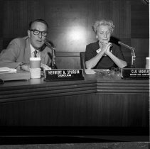 Image of Councilmembers Clo Hoover & Herb Spurgin - 1965/04/21