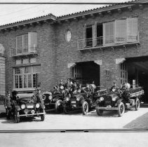 Image of Los Angeles Fire Department Station and Personel - undated