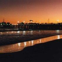 Image of Santa Monica Pier at Sunset - 1992