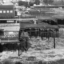 Image of Storm at Santa Monica Pier - 1983/03/05