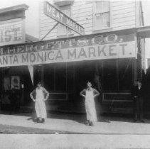 Image of H. Hergett & Company Santa Monica Market - 1890/01/01-1890/12/31
