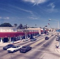 Image of Montana Avenue at 14th Street, Santa Monica - circa 1970s
