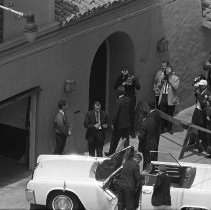 Image of President Kennedy Arriving at Lawford Beach Home - 1962