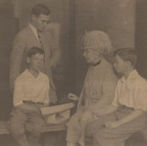Image of John, David and Colin Farquhar with their Grandmother Georgina Jones - undated
