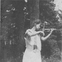 Image of Marion Jones Playing Violin - undated
