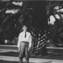 Image of John Farquhar In Front of Palm Tree - undated