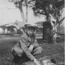 Image of John P. Farquhar and Dog - undated