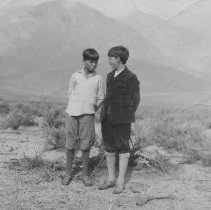 Image of John P. and Colin Farquhar Outdoors as Boys - undated