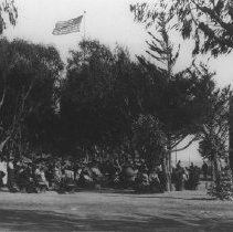 Image of Audience at Performance in Palisades Park - undated