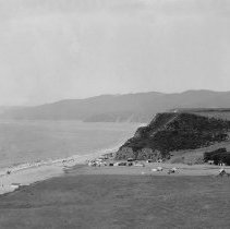 Image of Santa Monica Canyon, Looking North, with Tourist Tents - circa 1860's