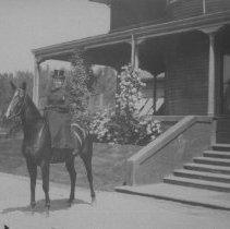 Image of Alice Jones on Horse, Miramar - undated