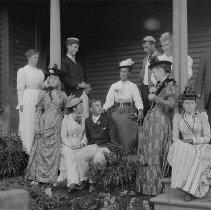 Image of Jones Family on Porch at Miramar - undated