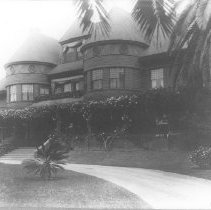 Image of Miramar, home of John P. Jones, with Pathway and Steps - undated