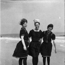 Image of Alice, Marion, and Georgina Jones at the Beach - undated