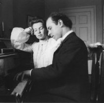 Image of Pablo Casals (Cellist) at Piano with Marion Jones Farquhar - undated
