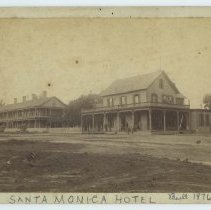 Image of Santa Monica Hotel on Ocean Avenue - late 1800s