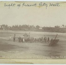 Image of Baseball Game in Santa Monica, 1896 - 1896/11/26