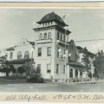 Image of Old City Hall on Fourth Street in Santa Monica - circa 1930s