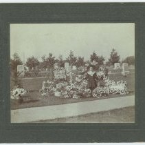 Image of Young Girl at Rosedale Cemetery, Los Angeles - early 1900s