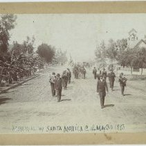 Image of Memorial Day Parade in Santa Monica, 1893 - 1893/05/30