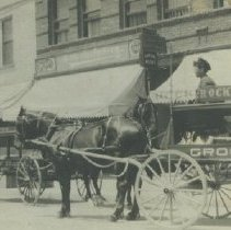 Image of Grocery Wagon on Pier Avenue, Ocean Park - early 1900s