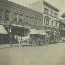 Image of Businesses along Pier Avenue, Ocean Park - early 1900s