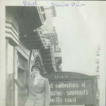 Image of Edith Watson on Venice Pier - early 1900s