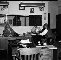 Image of City Desk, Outlook Newspaper Office - undated