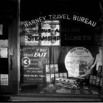 Image of Harney Travel Bureau Window Display, 1935 - 1935/07/00