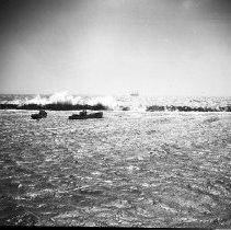 Image of Waves Cresting Over the Breakwater, Santa Monica - 1936/01/01-1936/12/31