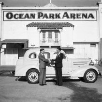 Image of Mike Hirsch at Ocean Park Arena - 1936