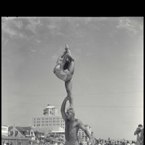 Image of Acrobats on Muscle Beach - 1957