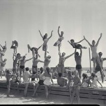 Image of Acrobatics at Muscle Beach - 1957