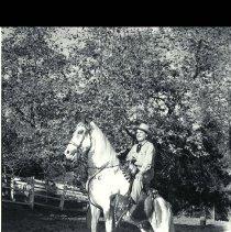 Image of Leo Carrillo on Horseback - 1947