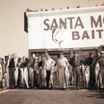 Image of Army Group with Fish Caught, Santa Monica Pier - undated