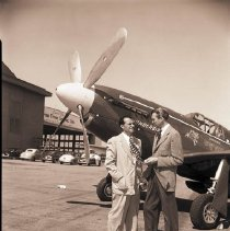 Image of James Stewart at Clover Field, Santa Monica - 1949/08/25