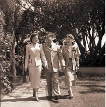 Image of Strolling on the Grounds of the Miramar Hotel - undated