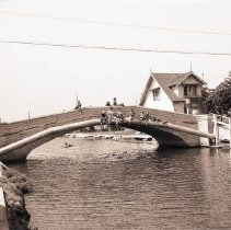 Image of Children Fishing from a Venice Canal Bridge, 1942 - 1942/09/18
