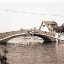 Image of Fishing from a Venice Canal Bridge, 1942 - 1942/09/18