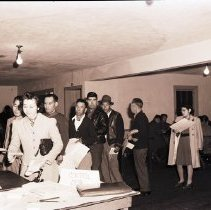 Image of Japanese Americans Register for World War II Relocation, 1942 - 1942/04/21
