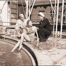 Image of At the Miramar Hotel Pool, 1946 - 1946/11/09