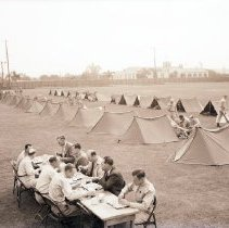 Image of Soldiers Camp at Municipal Stadium - 1941/08/17